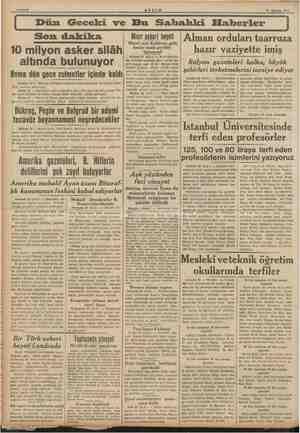 k | > Sahife 2 30 Ağu 1999. Son dakika altında b 10 milyon asker silâh ulunuyor Roma dün gece zulmetler içinde kaldı Londra