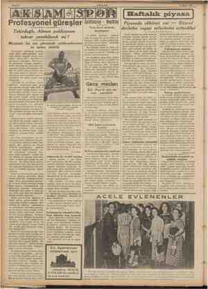 16 Eylül 1939 el güreşle Profesyon Tekirdağlı, Alman pehlivanını tekrar yenebilecek mi ? Mevsimin bu son güreşinde...