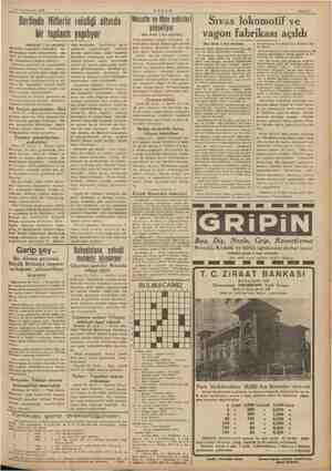 a Td e 23 Teşrinievre) 1939 Berlinde Hitlerin reisliği altında bir toplantı yapılıyor (Baştarafı 1 nci sahifede) Memleket