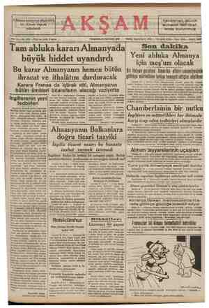 3 Alman tayyaresi düşürüldü. bir Alman vapuru yakalandı —.. ——— mmm   Sene 22. No; 7575 — Fiati her yerde 5 kuruş İamabiuka