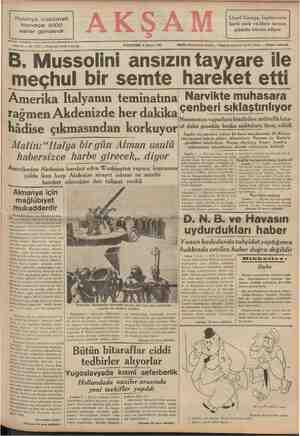 Lloyd George, İngilterenin Polonya hükümeti harbi sevk ve idare tarzına Norveçe 4000 asker gönderdi ——... Sene 22 —— No,