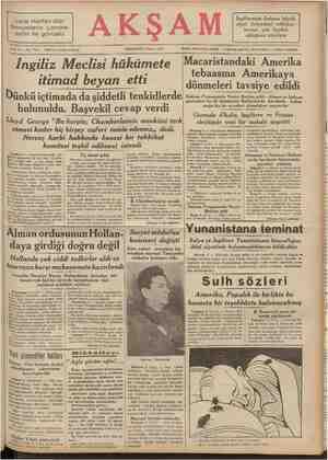 Lord Halifax dün Sovyetlerin Londra sefiri ile görüştü İm AKŞA M İngilterenin Ankara büyük elçisi Sofyadaki mülâkat-...