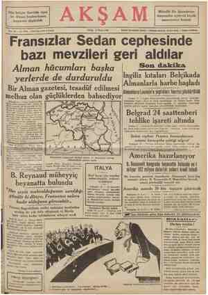 Müttefik filo İskenderiye limanından açılarak büyük manevralara başladı Dün İsviçre üzerinde uçan bir Alman bombardıman...