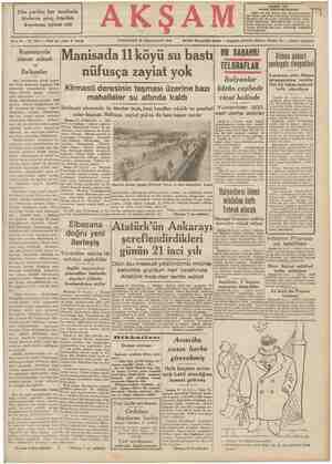 Dün yurdun her tarafında binlerce genç Atatürk koşusuna iştirak etti Bene 23 — No. 7971 — Fiatı her yerde 5 kuruş Romanyada