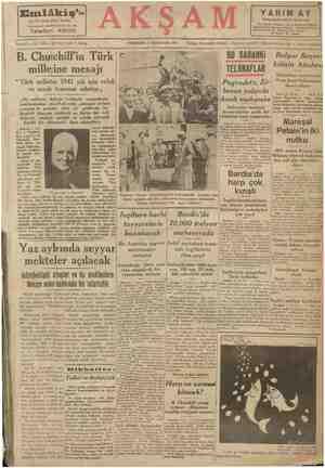 > — — Emlâkiş'i hiç bir yerde şibesi yoktur, Galatasaray Lisesikarşısında No. 184 Telefon 49010 akp Kadri Mei YARIM AY va...