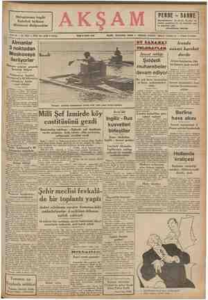 Mebuslarımız bugün Eminönü halkının dileklerini dinliyecekler i Sene 23 — No, B214 — Fiat her yerde 5 Kuruş SALI & Kylti 1941