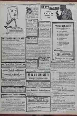 Sahife 8 ARŞ AM 19 Nisan 1945 eee şecektir. Ancak e cildin eyi beli sı kırışıkların önüne PUDRA - ALLIK HASAN depolarile