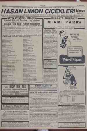 """""""Bahife 8 ARŞAM 11 Ağustos 1945 Bunaltıcı sıcaklarda serinlemek, sıkıcı havalarda ferahlanmak asabi hallerde sinirleri..."""