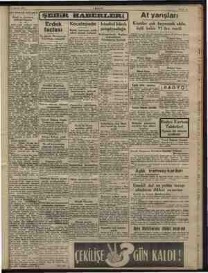 """21 Ağustos 1945 ABŞAM Sahile 3 AKSAMDAN AKŞAMA Keşif ve icatların """" kollektifl, rn İSEHiR HABERLERİ At yarışları da sırada"""