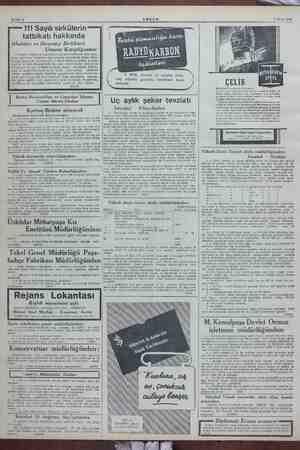 Sahife 8 e — 7 Ekim 1943 —— 111 Sayılı sirkülerin tatbikatı hakkında İthalâtçı ve Ihracatçı Birlikleri mumi e sayılı...
