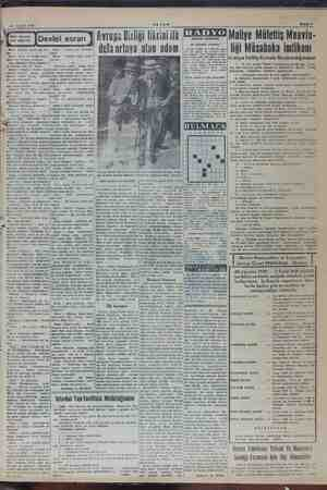 Bahife 7 29 Ağustos 1949 ARSAM Bilimi fakaimli RADYO Il iifottic i R 2 ber es İ Devlet bvrupa Birliği fikrini ilk dll e