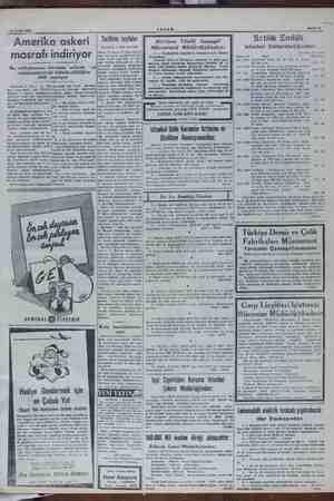 10 Aralık 1949 mak Sahife 7 Amerika askeri o . . en ülhamit masrafı indiriyor için en büyük ender m Biel Kayakevi işletmesi