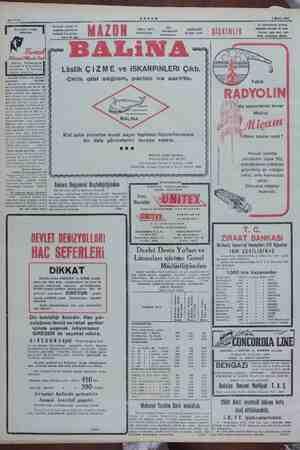 MMA AKŞAM 1 Eylül 1930 Sahife 8 Herkesin evinde. ve düç ve yanmalarını giderir, Bayanların Nazarı seyahate çıkacak 0-...