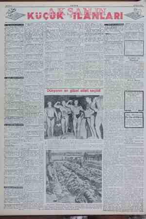 Sahife 6 AKŞAM 20 Ekim 1950 KUCUK Kk v — Ecnebi öğret İYİ BİR FIRSAT — Kadıköy, Altı- BULUNMAZ BİR FIRSAT — Şişli SATILIK