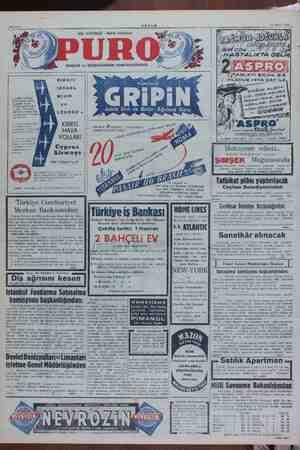 Sahife 8 AKŞAM 23 Mart 1951 BOL KÖPÜKLÜ - NEFİS KOKULU TABLETİ ille. BE KIBRIS ((/ #ALAMUR vera çar. İLE ISRABL, MISIR 1....