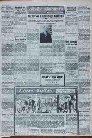 13 Temmuz 1951 AKŞAM Sahife $ Sümerbank mamulleri zam! spetsiz ve münase Yapıştırılan bir zarf, ———— a - Nis atılan bir...
