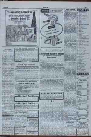 7 Eylül 1951 TURKiYE iŞ BANKASI / 1951 de Tasarruf aa arasmda e kiliş öle 28 Aralıkta 3 Bahçeli E ve Çeşitli Para ikramiyele;