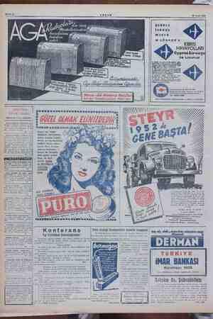 Sahife 8 ram a e n lüks v2 daa Gbant üerinden 2021 Model rant el, 5 lam 3 2020 M sid gi daha Pilli samba AKŞAM 18 Ocak 1952