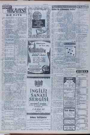 10 Nisan 1952 .* KEREYE AAA Sİ: A ox * Kahve ile cilâlanayım dedim ! İSTANBUL RADYOSU Öğle ve akşam programları » n » İsasrl