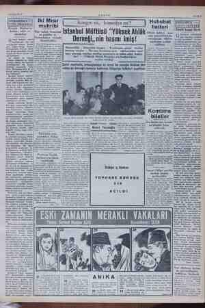 """23 Mayıs""""1952 Ser met Muhtar'ın agg e ve mleler ermet Muhtar Alus kaybet: rr biz Iki Mısır muhribi AKŞAM liiulelize """"önünde"""