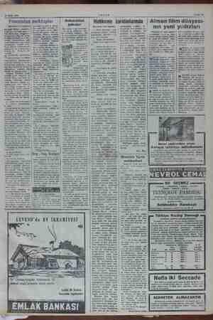 NM İM ARNA 15 Ekim 1952 AKŞAM Sahife 19 Fransadan mektuplar (Baştarafı « 6 ncı sayfada) | sinemalar da 160-250 kuruş- geldi,