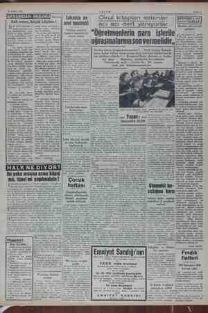 16 Kasım 1952 AKŞAM Sahifz 3 Evli evine, köylü köyüne iz şehir halkının o- lr siyasi ai i kadar istik- karlar Bu, Nas > Hoca-