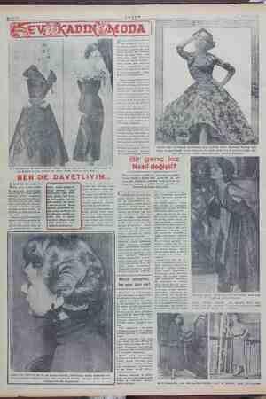 ge Samara bir kokteyi kıyafeti (Model Couture Leny Zürleh), 2 — Safir mavlsl sa- esten prenses tarzında bir elbise (Model