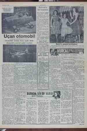 AM Sahife 5 — Haziran 1924 AK Holivut'la bir boşanma Airphibian hava meydanmda kanadlarını çıkardıktan sonra otomobil...