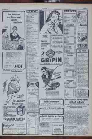 """25 Eylül 1954 Pan American ayırttığınız yeri sür'atle teyid eder İİ leri derhal bildiri, """"Pan Mimi iğ Gb lerden biridir..."""