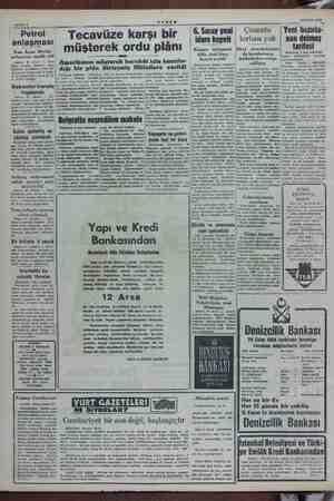 """Sahife 2 AKŞAM 29 Ekim 1954 a Petrol anlaşması ran Ây; el anlaşmayı tasdik etti üsteni E Si 41 oy- a tasdik"""" etmişti..."""
