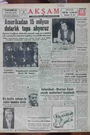 """Z BUGUN ünik ) BUGÜN """" KÜÇÜK iLÂNLAR NİSAN 1955 ? çel tı v Krş. Sayfa : 9 da 0. 13118 TAKSiM'de Şubemiz açıldı Açılış..."""