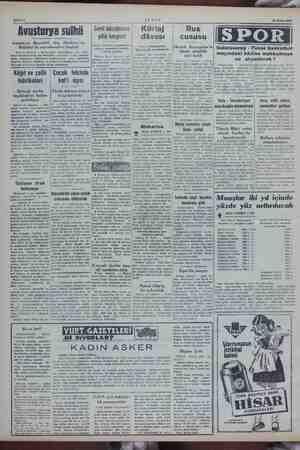 EE M— >... hife 2 Sahife AK Şam 13 Nisan 1959 Avusturya Sul sulhü Gemi a) ba. mı er Kürtaj   Rus yılık kongresi dâvası...