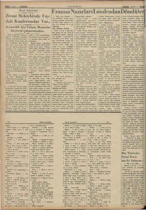 Avmıwmmmnmne Zirat Işlerimiz Ziraat Mektebinde Fay- dalı Konferanslar Var.. Zey—tincilik Için Yetişen Memurlar Köylerde...