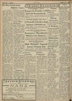 Hİ Sahife — & DNDN (ANADOLU Bir Rus Gazetesinin Mühim Yazısı. — Başı 1 inci yüzde — mektedir. Beyanatlarında. hu- duüdların