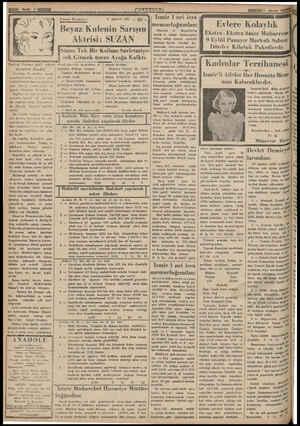 KU 0. Atos Casus Romanı: Beyaz Kulenin Sarışın Aktrisi: 9 Ağustos 935 .. 20. SUZAN İzmir 1 nci icra Süzan Tek Bir Kelime