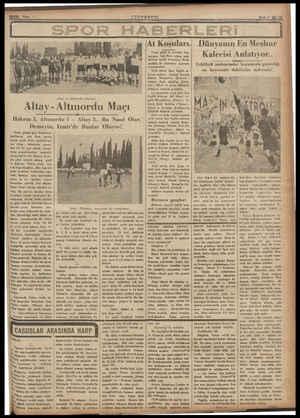 Altay - Altınordu Maçı Hakem 3, Altınordu 1 - Demeyin, Izmir'de Bunlar Pazar günkü spor hâdiseleri, hakikaten —çok fena -...