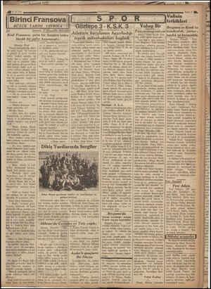 4023 /6/ 936 Birinci Fransova BÜYÜK TARİHİ TEFRİKA 21 Çeviren: F. Şemseddin Benlioğlu Kral Fransova, çetin bir harpten sonra