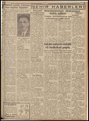 Y ÜTEN YÜ E —. 16/10/ 936 eşhud suçlar kanunu- nun mühim faideleri. İzmir C. müd eiumumisi Asım Tuncay, gazetemize kiymetli