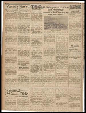 """ü Sayfa 4 geee ee ee Yarının Harbı i """"Lenin'in dulu,, çıkık c!macık İzemıklerı :   aETA ile bir halk imparatoriçesi tipidir"""