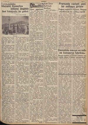 """36 Haziran 937 Bi"""" gama tarihinden: Ulucami, Ayasofya kilisesi değildir.  çpor ,.,,nyat. Şarl Teksiyenin bir gafleti - 2..."""