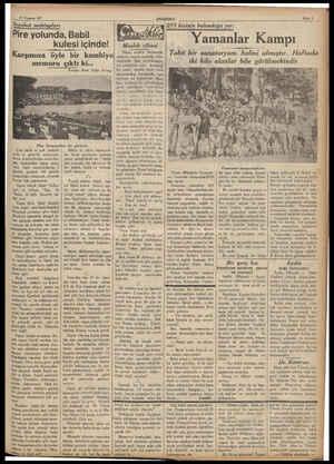 27 Temmuz 937 ANADOLU Seyahat mektupları Pire yolunda, Babil Karşımiia öyle bir kambiyo memuru kulesi içinde! çıktı ki......