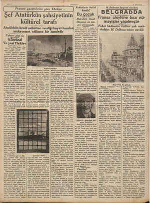 Sahifa 6 Ş v Fransız gazetelerine göre Türkiye - Şef Atatürkün şahsiyetinin kültürel tarafı Atatürkün kendi milletine verdiği