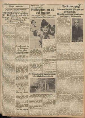 Sahife 9 Bi nni | Dünya matbuatı ngiltereden temin ettiğimiz kredi ve Bulgar gazetelerinin neşriyatı Âkdeniz barışının...