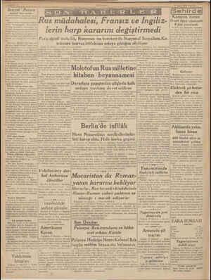B ALIm | y | 2) Sovyet Notası —Baştarafı tinci sahifede— ve devleti İnkiraz halindedir ve hiç bir yerde hâyat eseri...