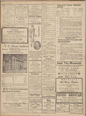 18 Eylâl 1939 Plzartesi Z , ANADOLU, GÜNLÜK SİYASİ GAZETE Sahip ve Başmuharriri HAYDAR R Ü g Umumi neşriyat ve yazı işleri