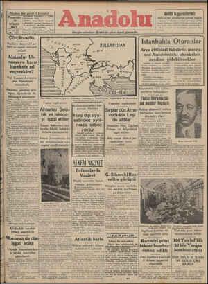 Nüshası her yerde 5 kuruştur N Perşe'nbe TELGRAF: ANADOLU — İZMİR TELEFON: 2776 10 NİSAN 1941 80 ncu YIL Çörçilin nutku...