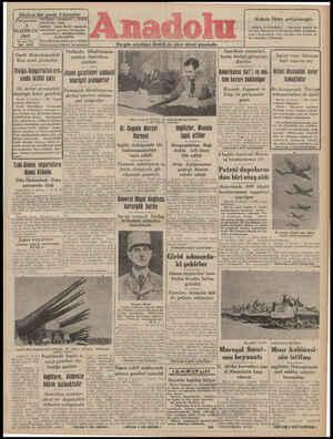 Anadolu Gazetesi 5 Haziran 1941 kapağı