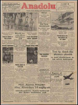 Anadolu Gazetesi 9 Haziran 1941 kapağı
