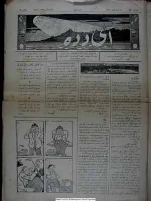 Aydede Gazetesi 9 Ocak 1922 kapağı