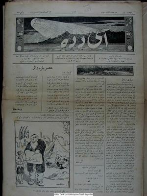Aydede Gazetesi 12 Ocak 1922 kapağı